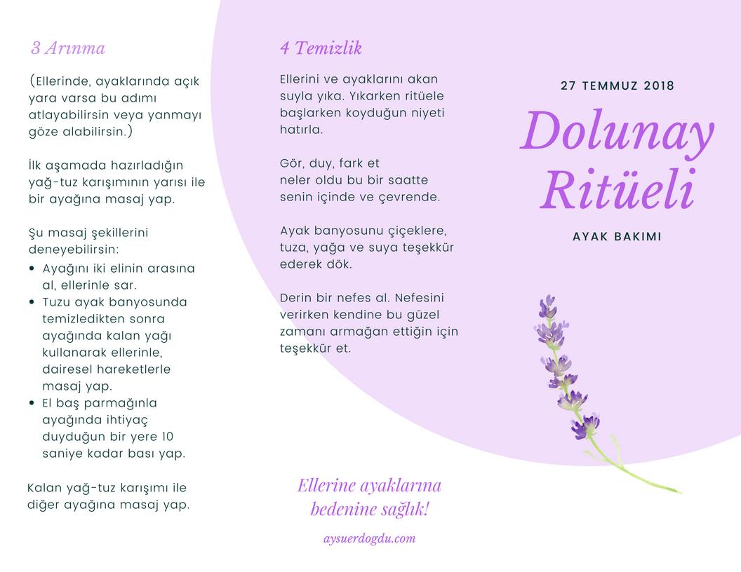 27 Temmuz 2018 Dolunay Ritüeli